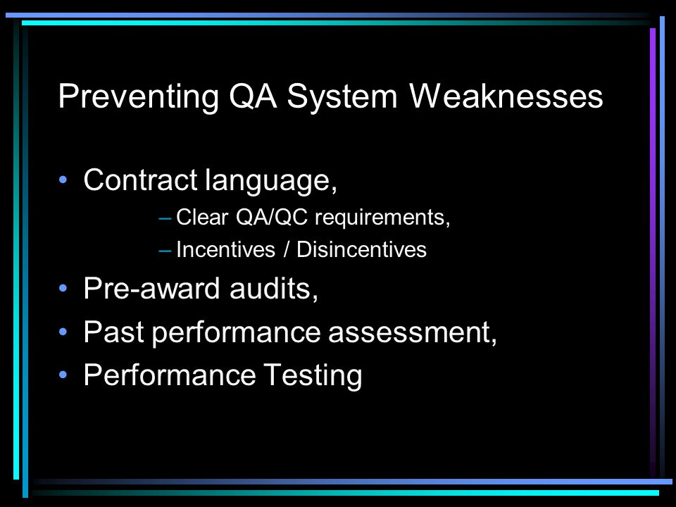 Preventing QA System Weaknesses
