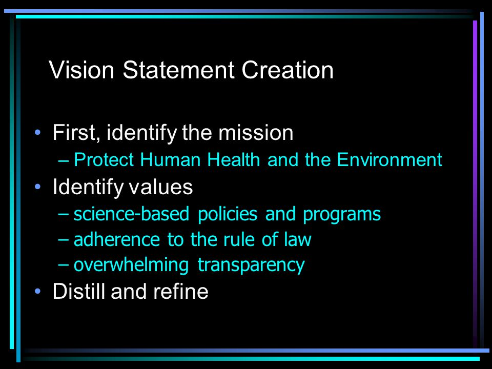 Vision Statement Creation