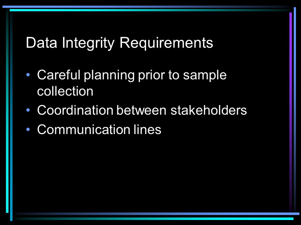 Data Integrity Requirements