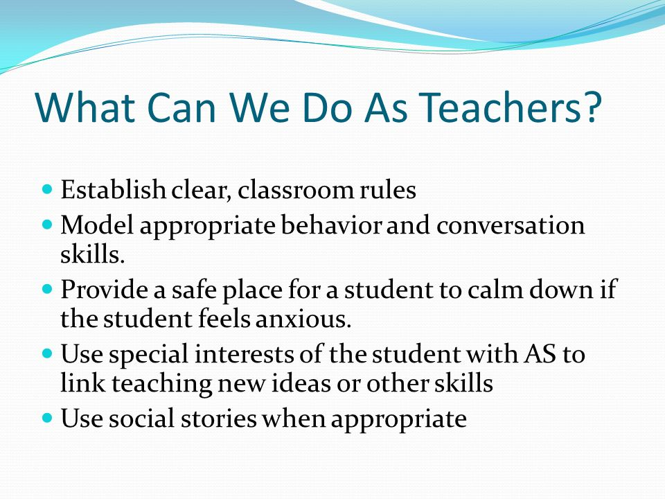 What Can We Do As Teachers