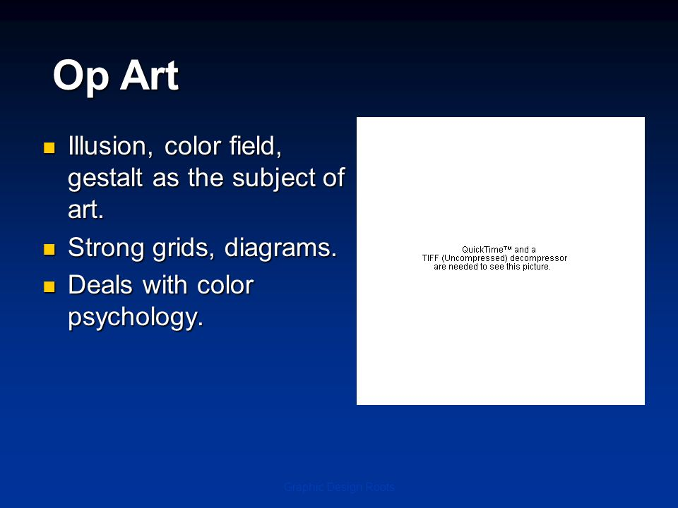 Op Art Illusion, color field, gestalt as the subject of art.
