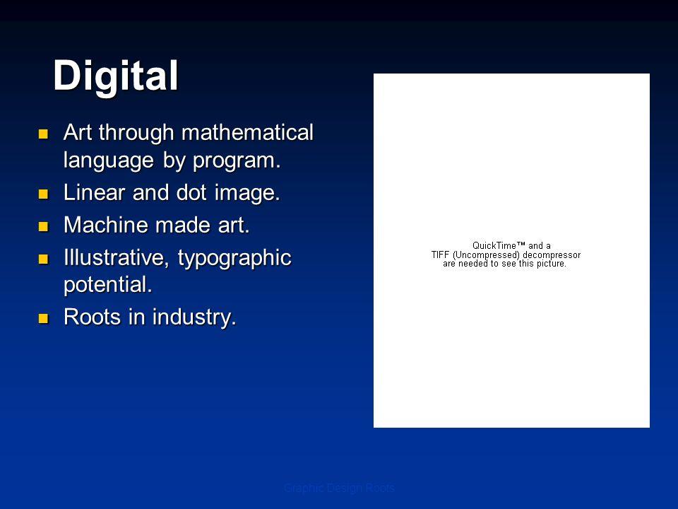 Digital Art through mathematical language by program.