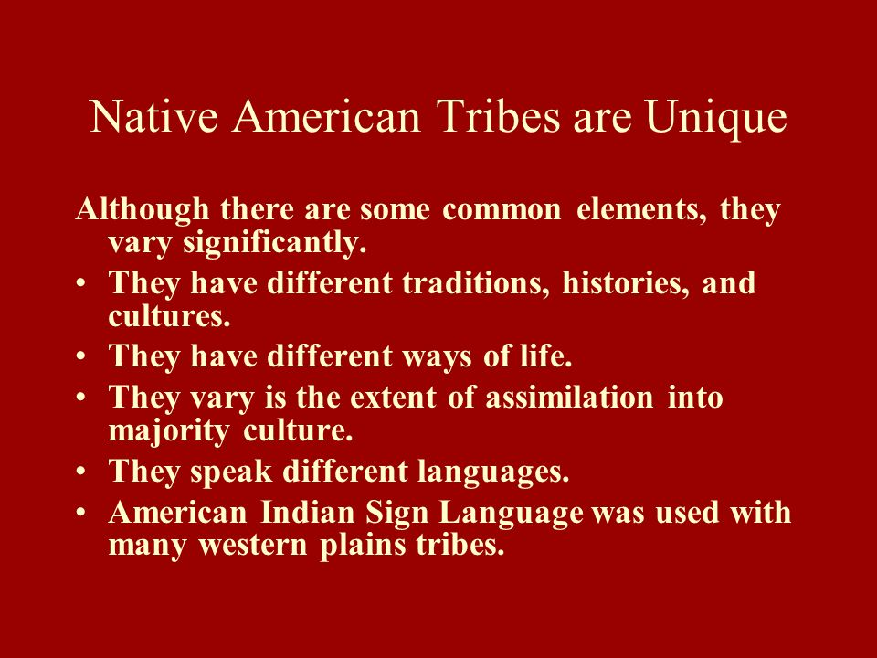 Native American Tribes are Unique