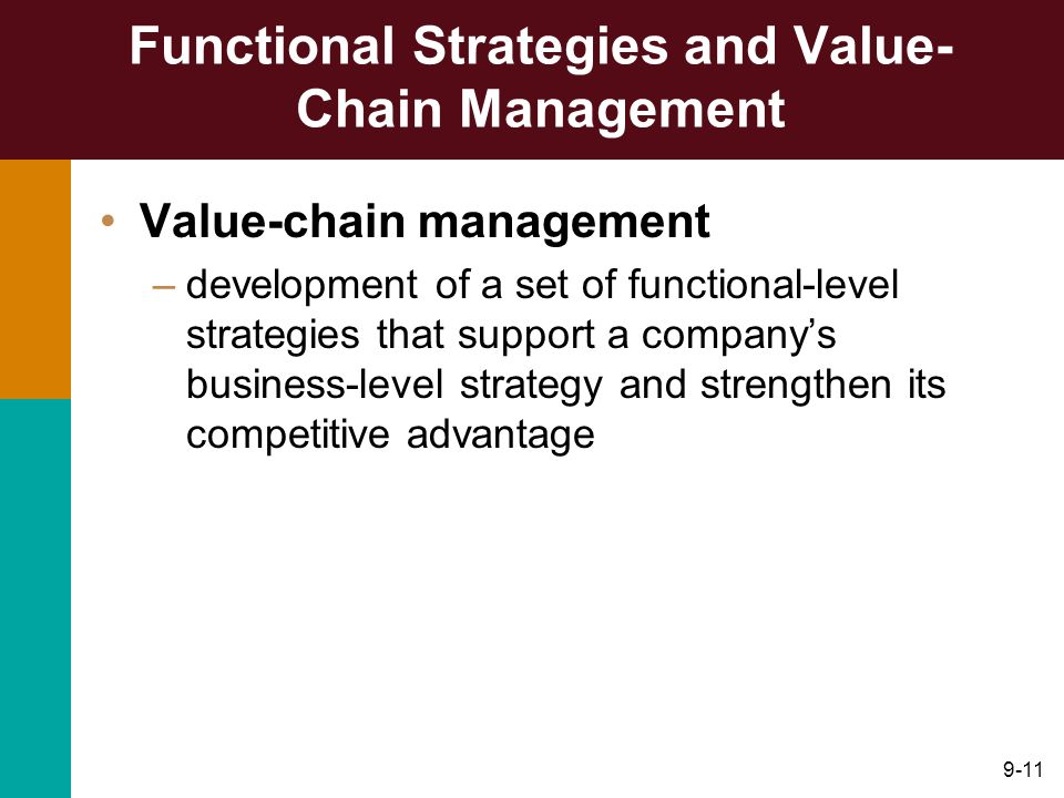 Functional Strategies and Value-Chain Management