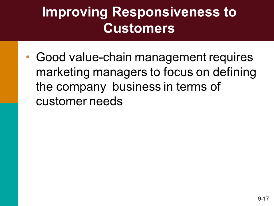Improving Responsiveness to Customers