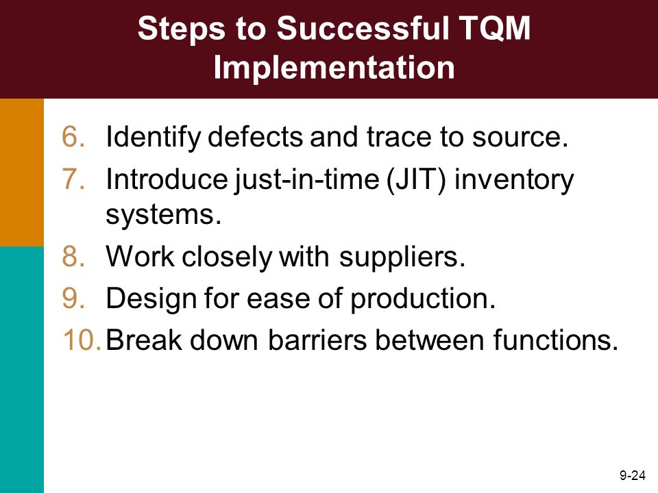 Steps to Successful TQM Implementation