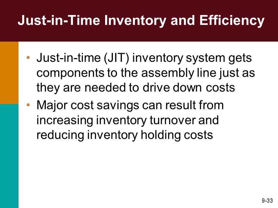 Just-in-Time Inventory and Efficiency