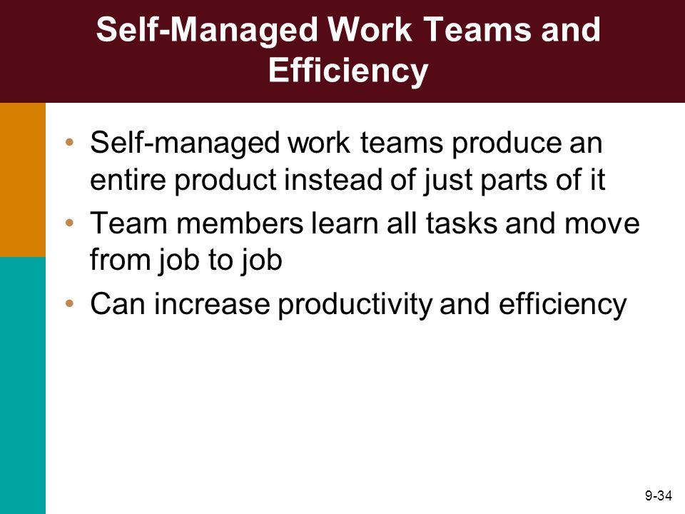 Self-Managed Work Teams and Efficiency