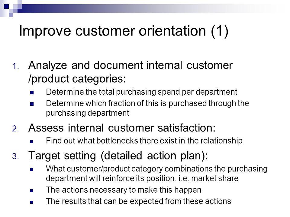 Improve customer orientation (1)