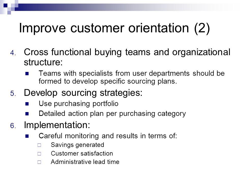 Improve customer orientation (2)