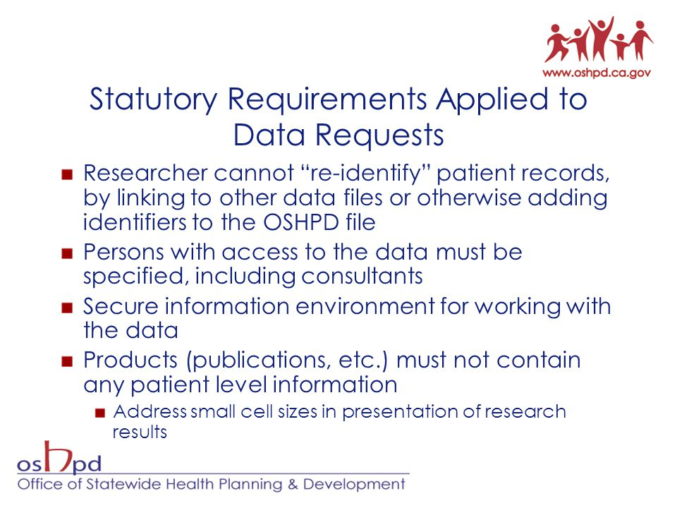 Statutory Requirements Applied to Data Requests