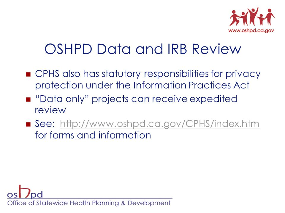 OSHPD Data and IRB Review