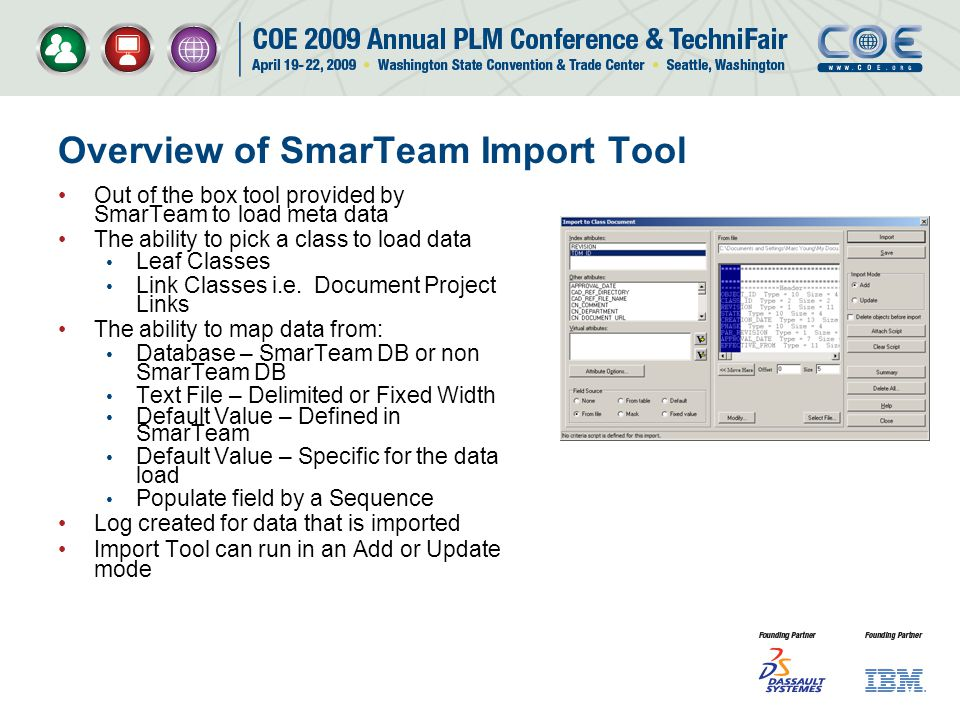 Overview of SmarTeam Import Tool