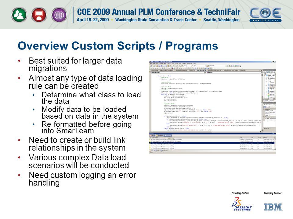 Overview Custom Scripts / Programs