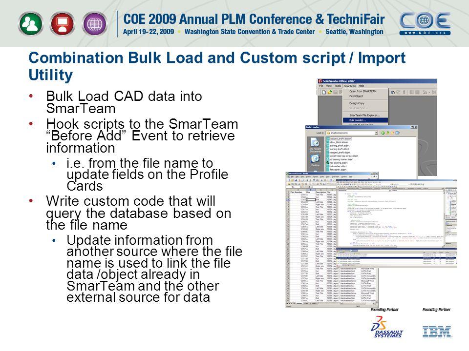 Combination Bulk Load and Custom script / Import Utility