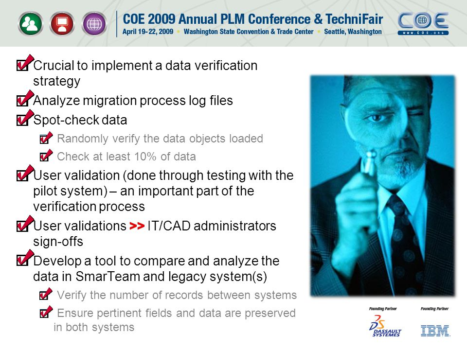 Crucial to implement a data verification strategy