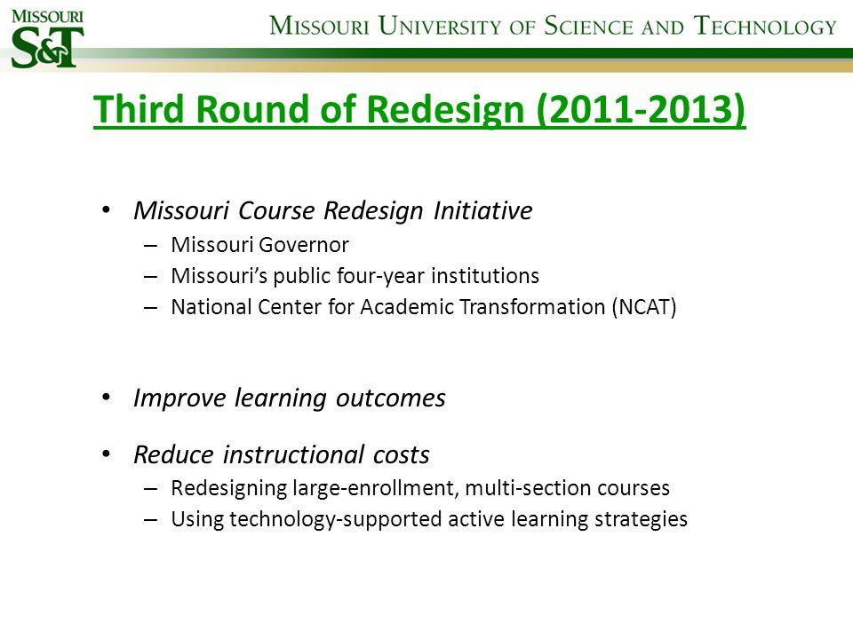 Third Round of Redesign (2011-2013)
