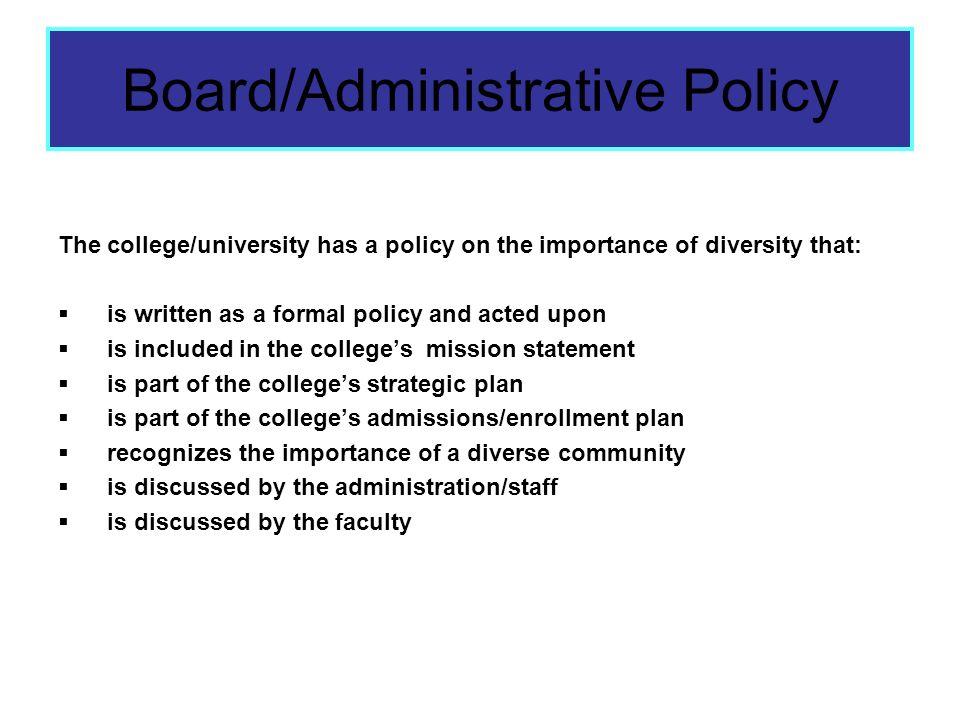 Board/Administrative Policy