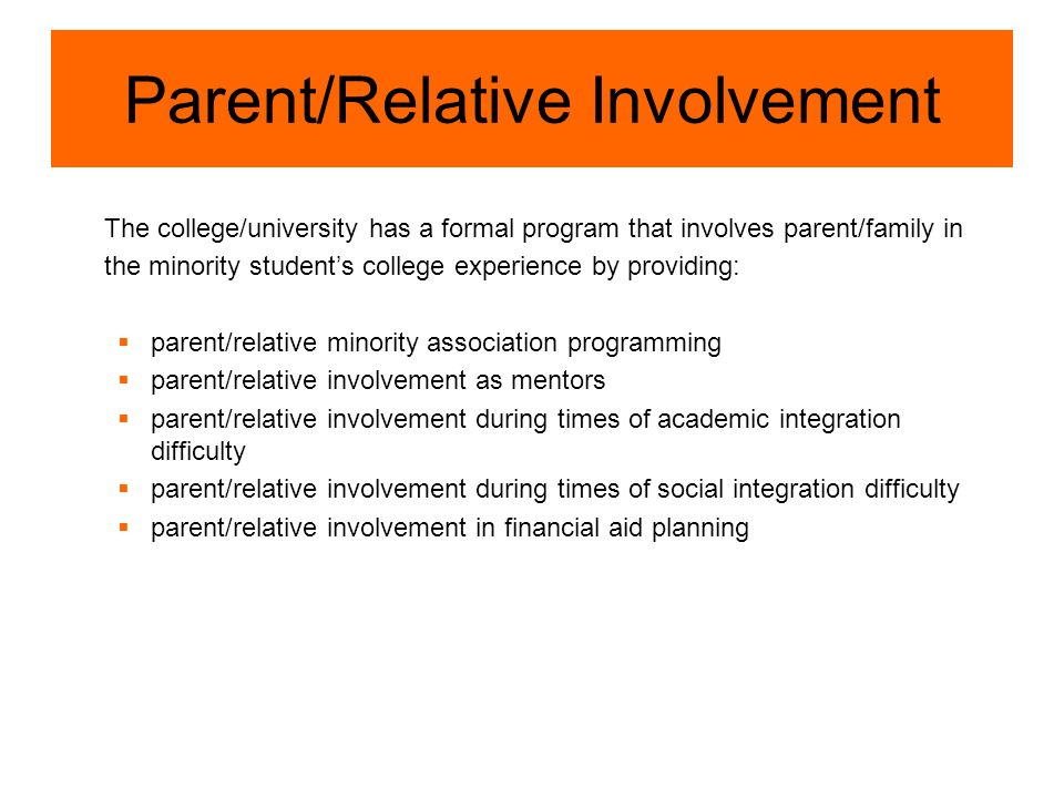 Parent/Relative Involvement