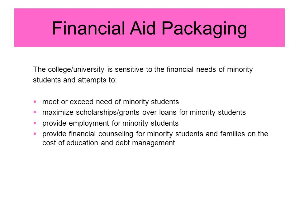 Financial Aid Packaging