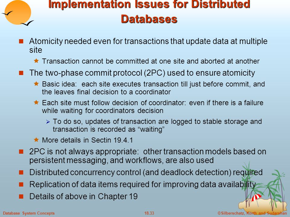 Implementation Issues for Distributed Databases