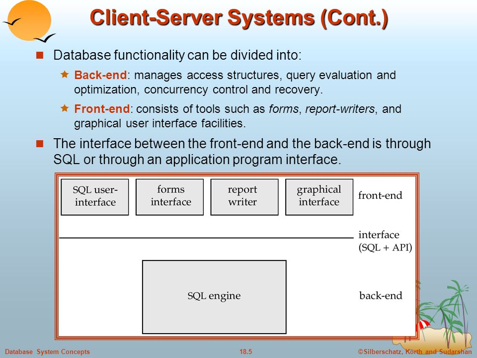 Client-Server Systems (Cont.)