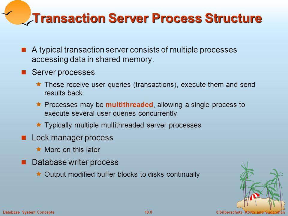 Transaction Server Process Structure
