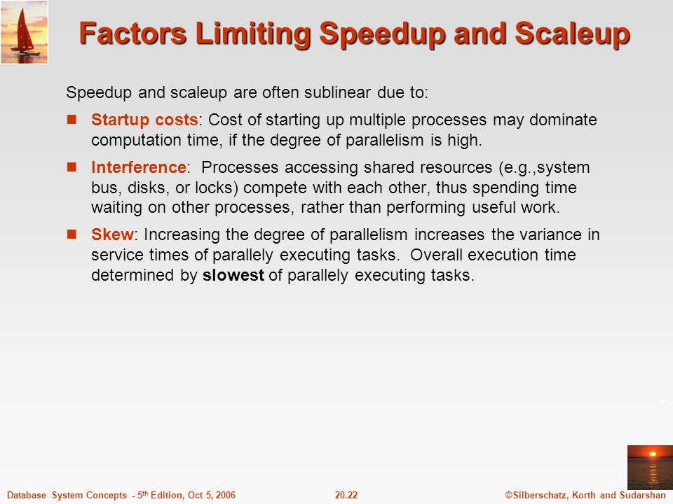 Factors Limiting Speedup and Scaleup