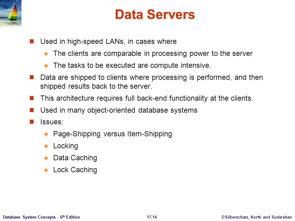 Data Servers Used in high-speed LANs, in cases where