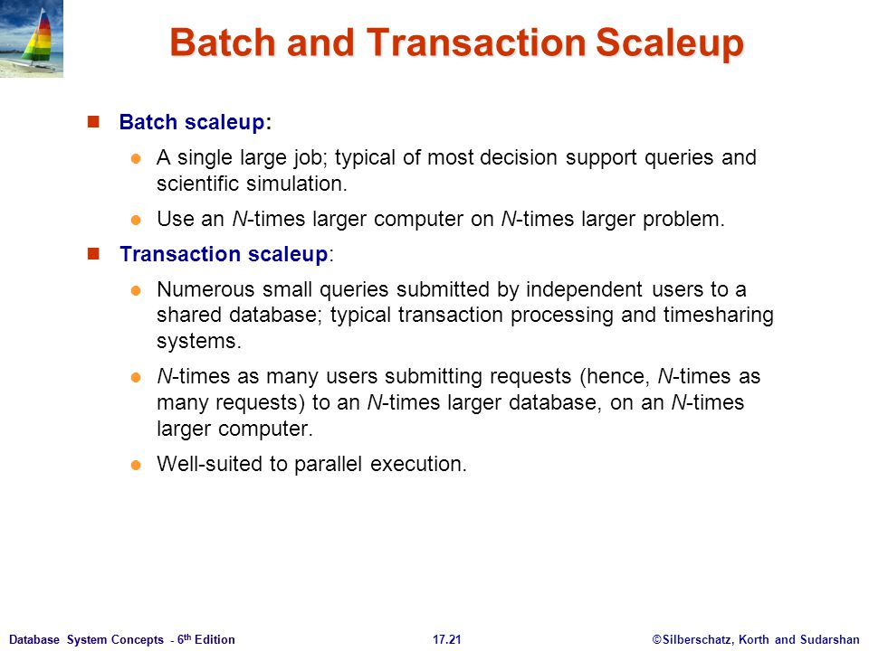 Batch and Transaction Scaleup