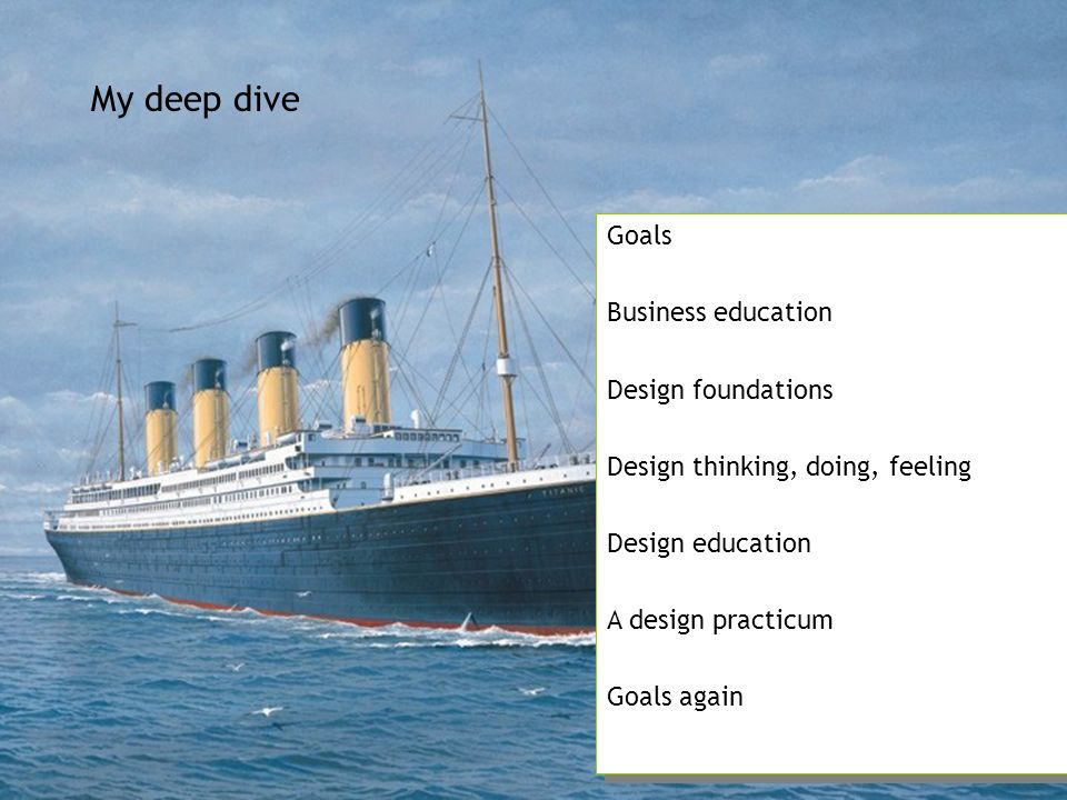 My deep dive Goals Business education Design foundations