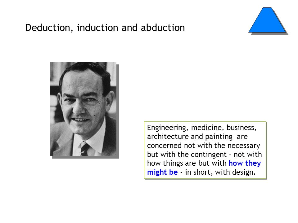 Deduction, induction and abduction