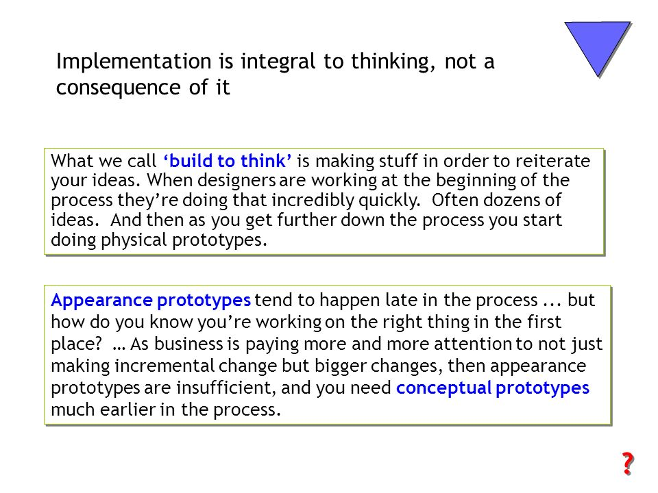 Implementation is integral to thinking, not a consequence of it