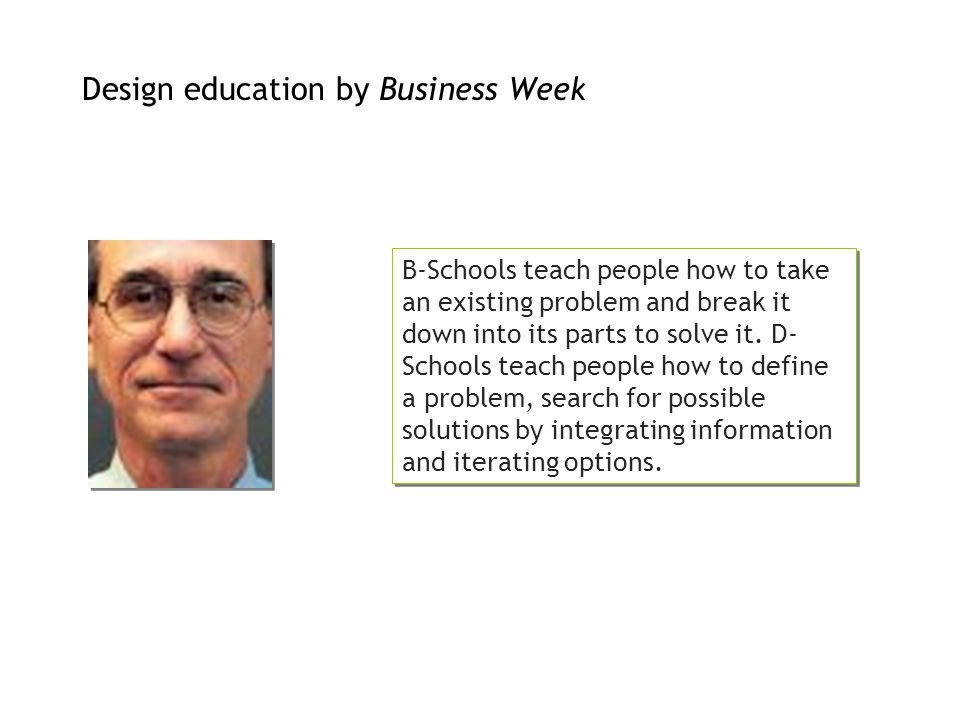 Design education by Business Week