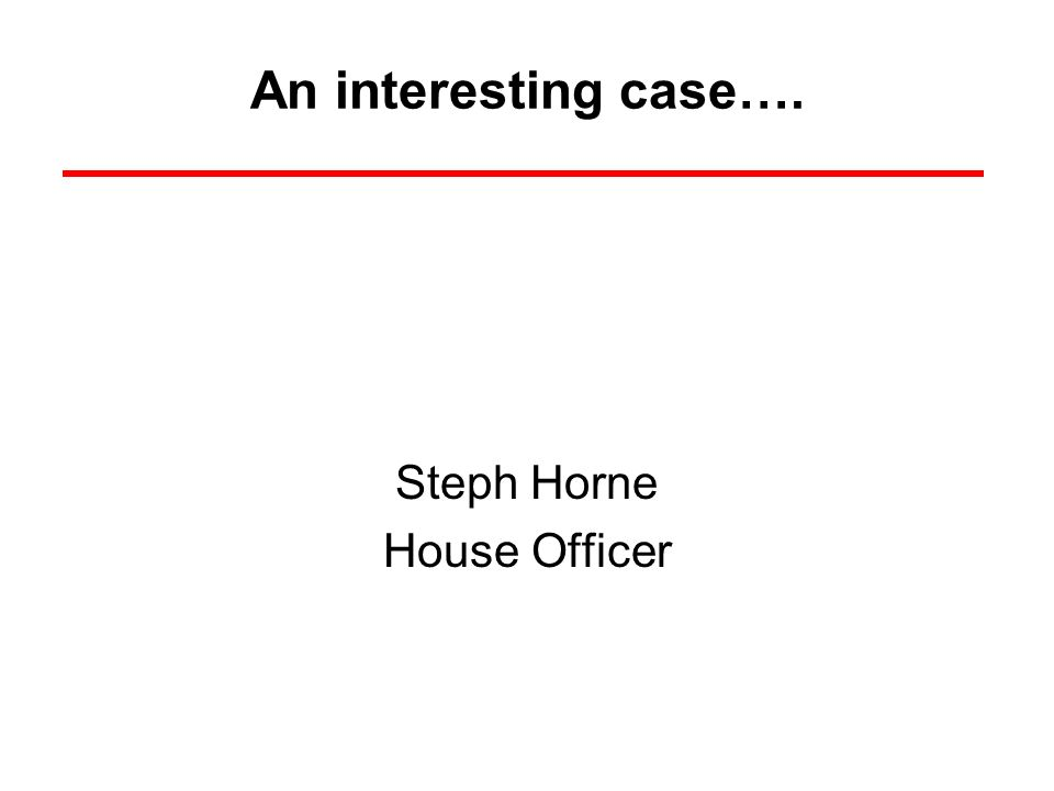 Steph Horne House Officer