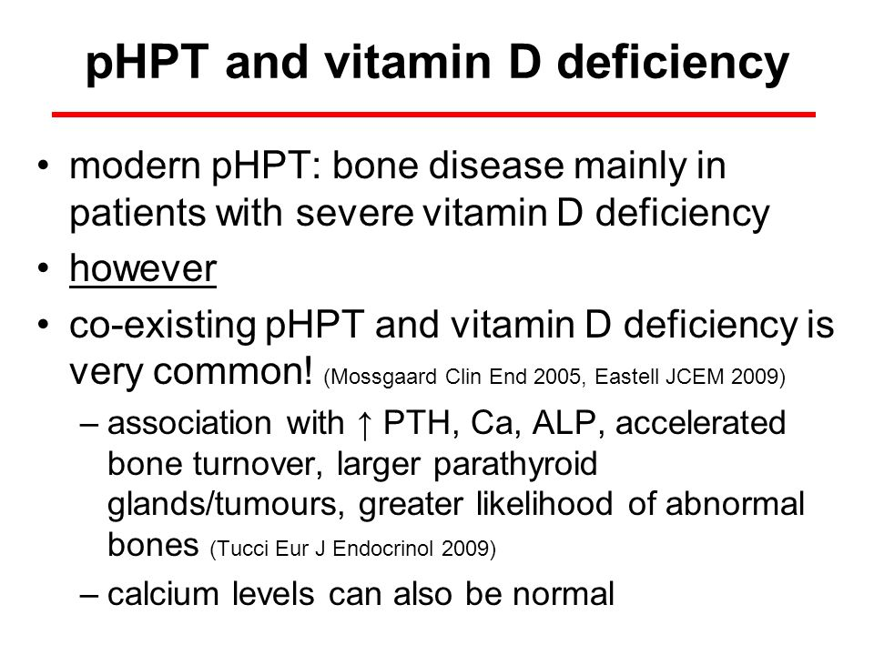 pHPT and vitamin D deficiency