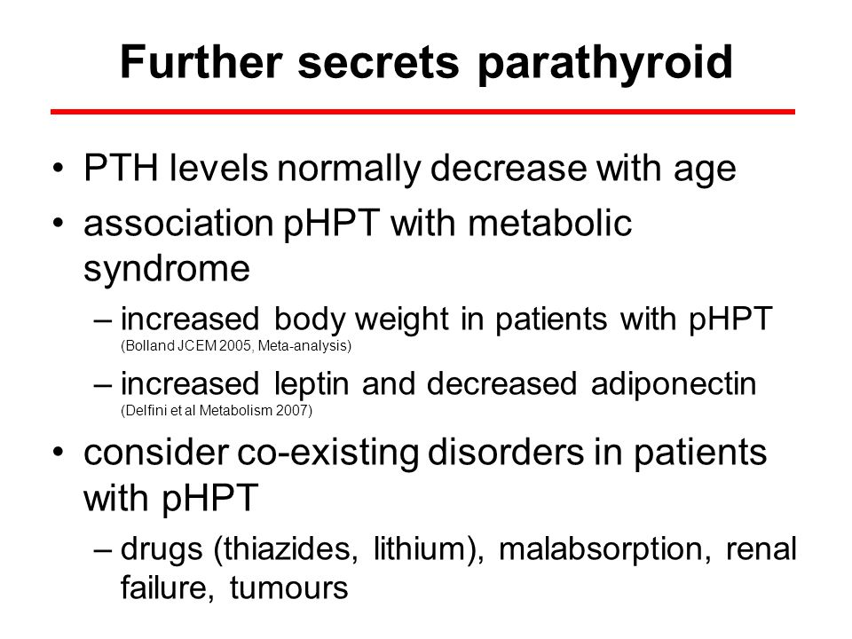 Further secrets parathyroid