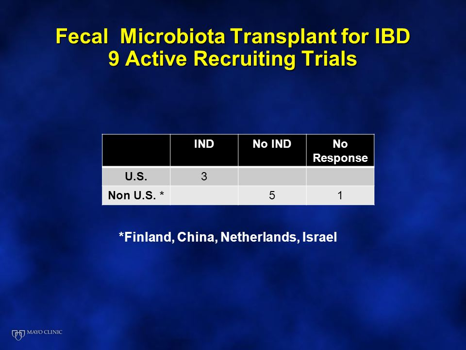 Fecal Microbiota Transplant for IBD 9 Active Recruiting Trials