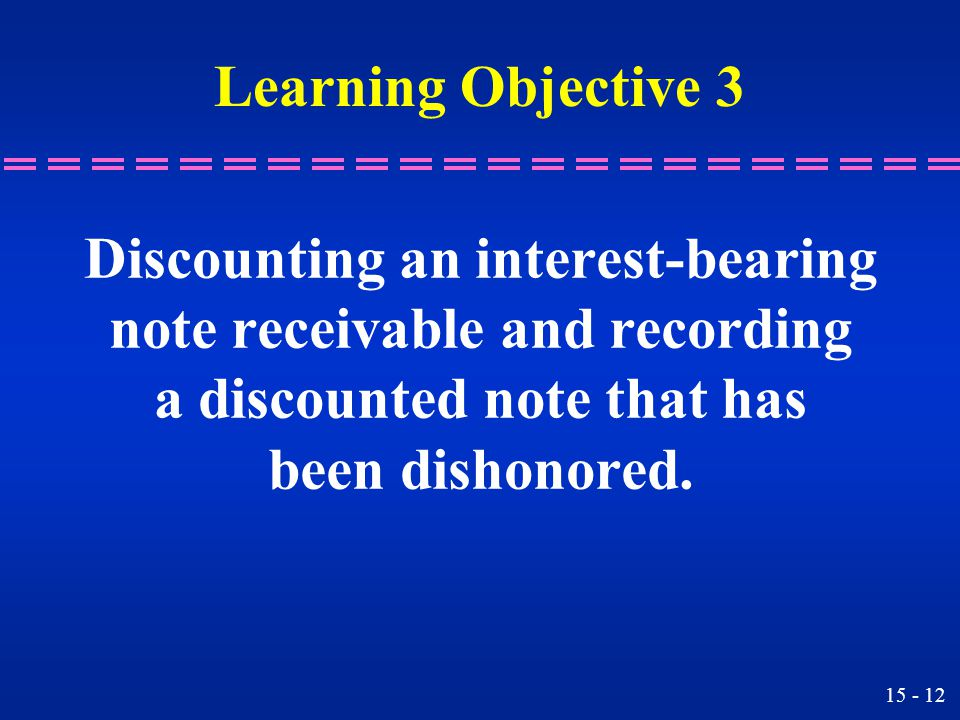 Discounting an interest-bearing note receivable and recording