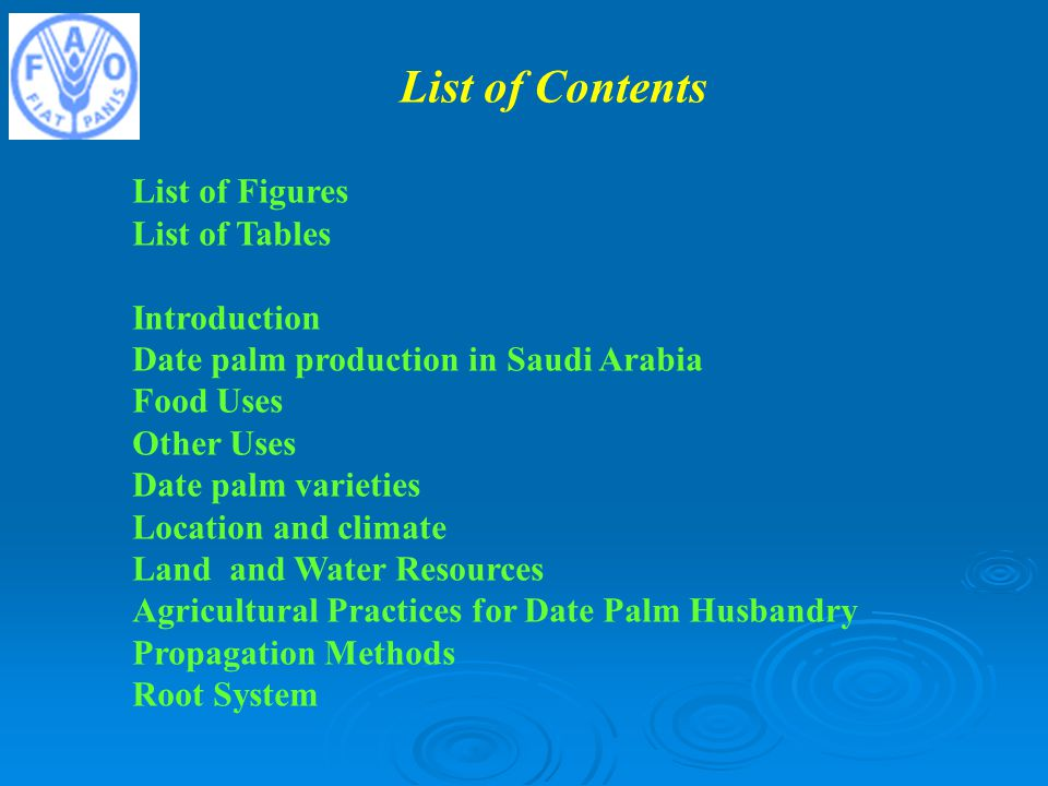 List of Contents List of Figures List of Tables Introduction