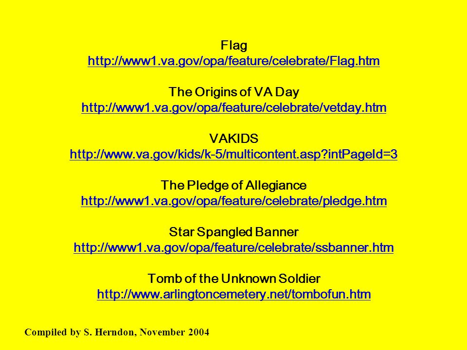 Flag http://www1. va. gov/opa/feature/celebrate/Flag