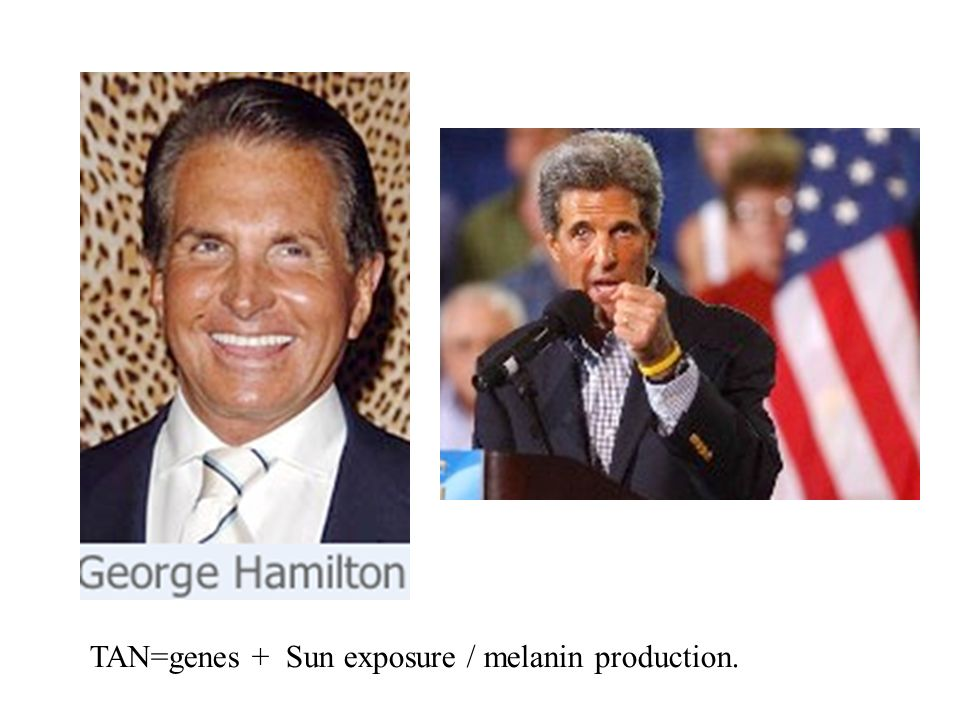 TAN=genes + Sun exposure / melanin production.