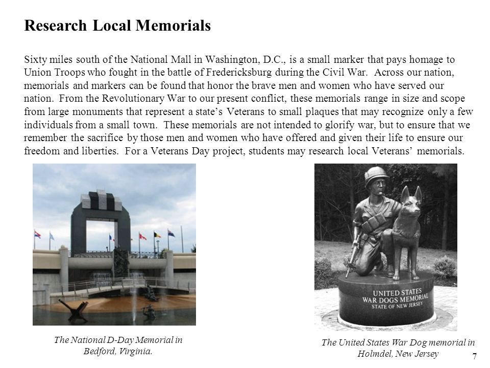 Research Local Memorials