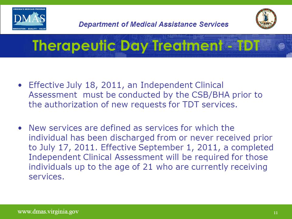Therapeutic Day Treatment - TDT