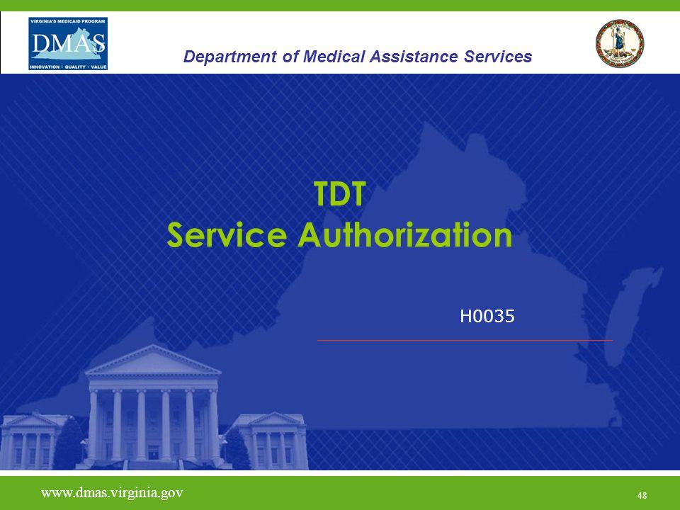 TDT Service Authorization
