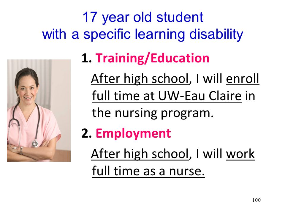 17 year old student with a specific learning disability