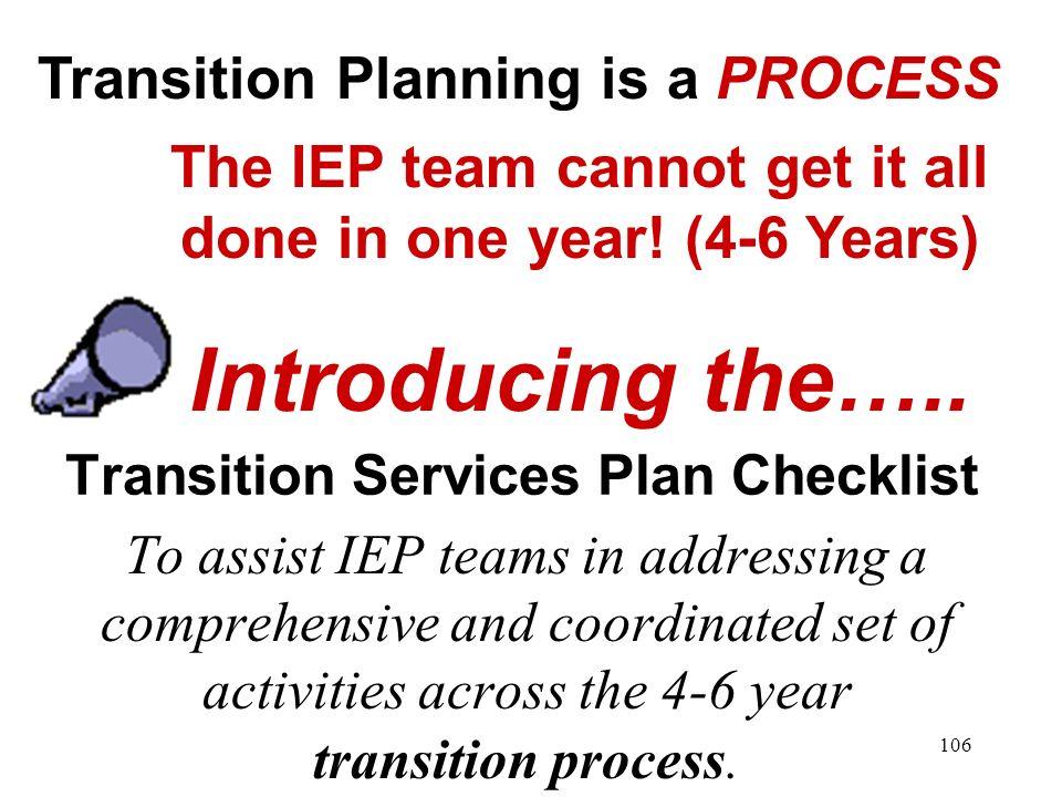Transition Services Plan Checklist