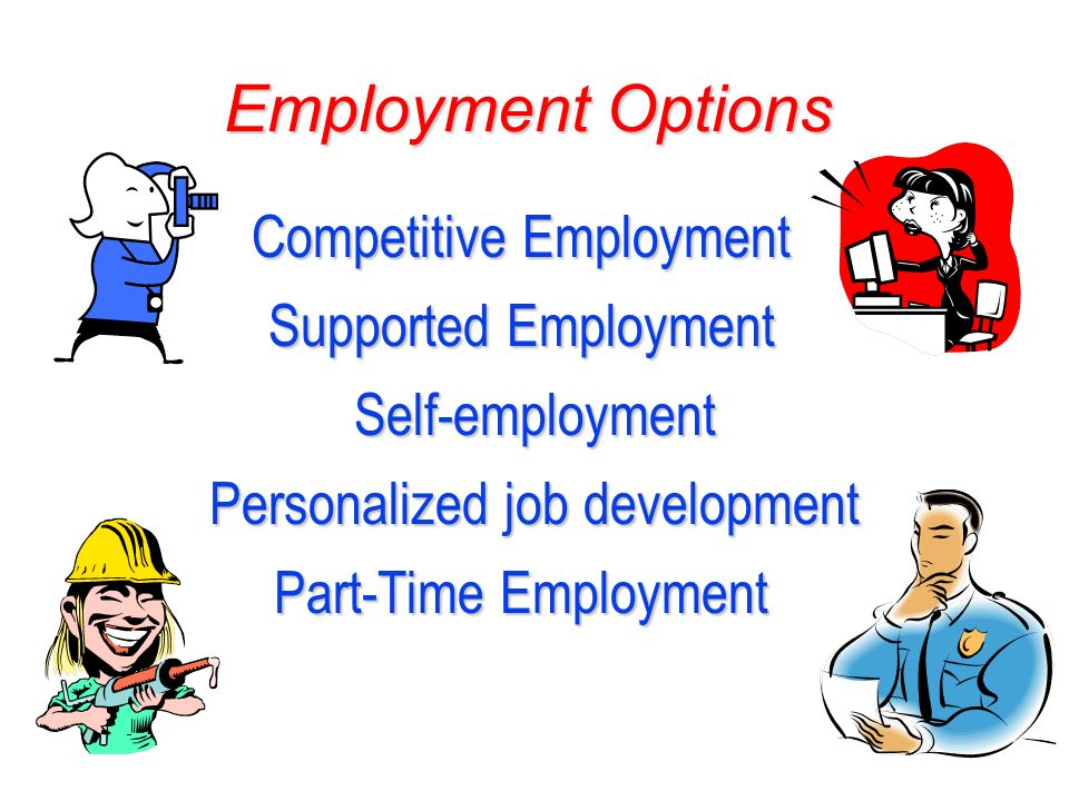 Competitive Employment Supported Employment Self-employment