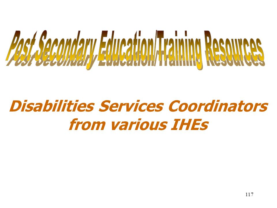 Disabilities Services Coordinators from various IHEs