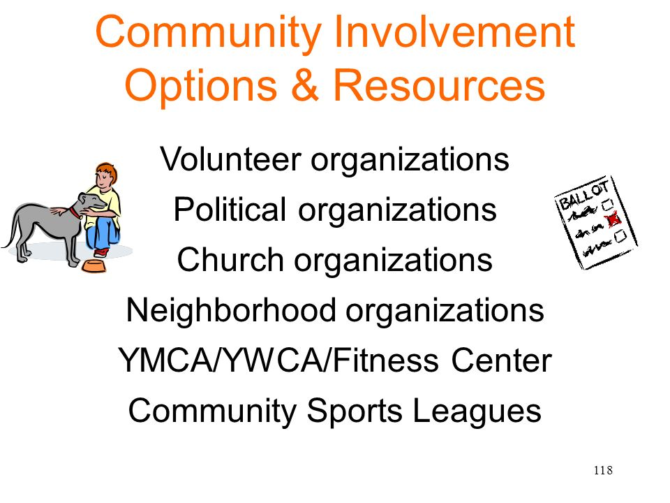 Community Involvement Options & Resources